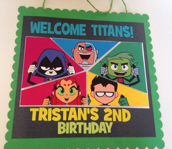 Teen Titans Door Sign Teen Titans Go Birthday | Teen Titans Go Party | Teen…