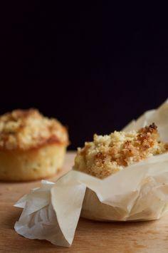 Recette : Muffin poire - crumble. Recette sans gluten et sans lait !