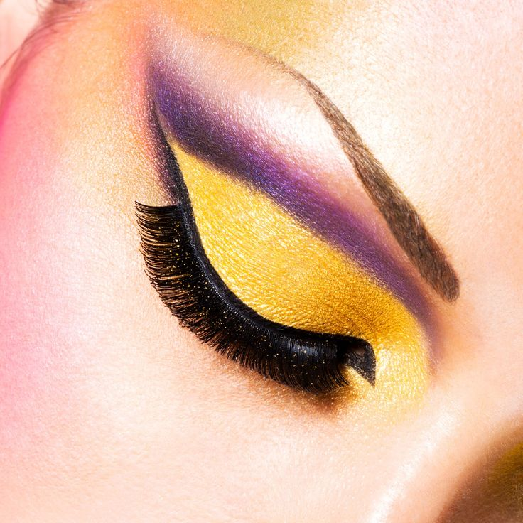 trucco occhi giallo