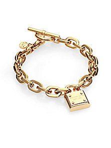 Michael Kors - Padlock Charm Bracelet/Gold