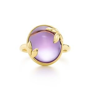 Gorgeous! Paloma Picasso® Olive Leaf ring in 18k gold with an amethyst. With beautifully sculpted leaves in 18k gold, Paloma honors the olive branch, a symbol of peace and abundance. Ring in 18k gold with an amethyst. Carat weight 6.50. Original designs copyrighted by Paloma Picasso.