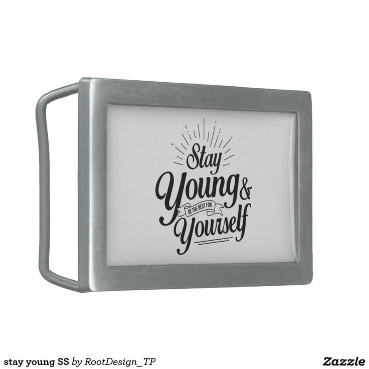 stay young SS Belt Buckle