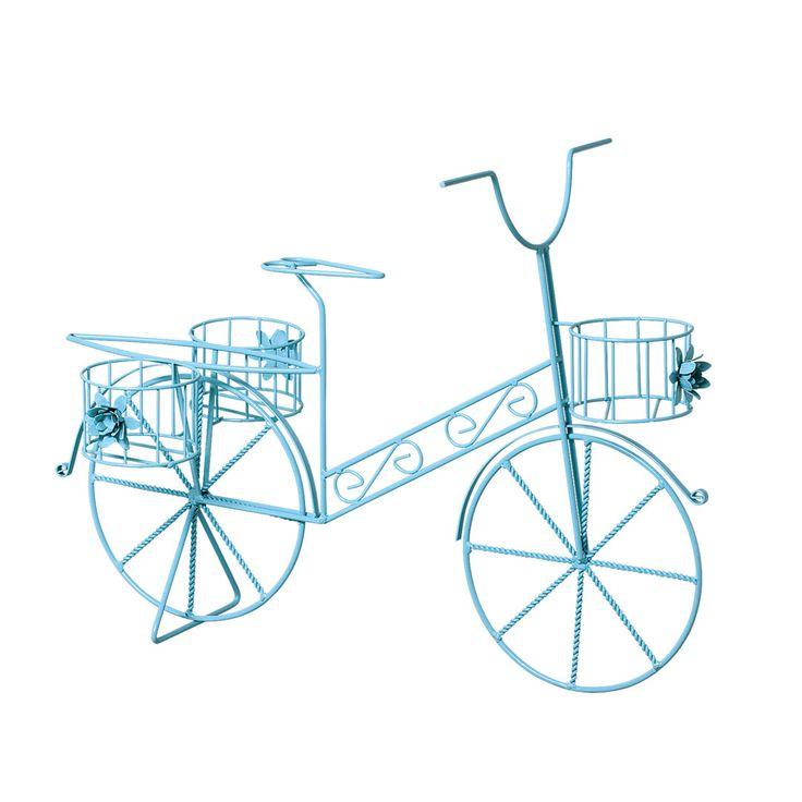 enfeite jardim bicicleta:Bicicleta de Jardim em ferro. Enfeite para decorar seu jardim com