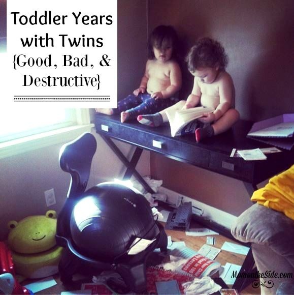 Toddler Years with Twins: Good, Bad, and Destructive  when it comes to Twin Parenting and toddlers!