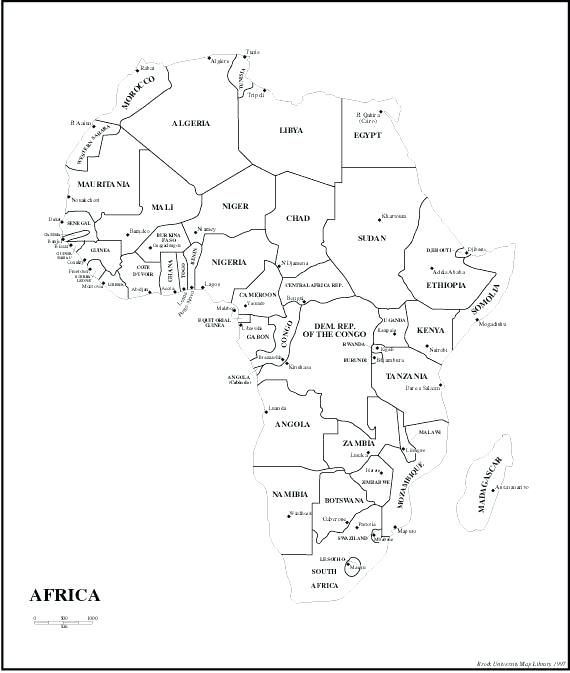 Africa Map Black And White world map with country names printable new map africa printable