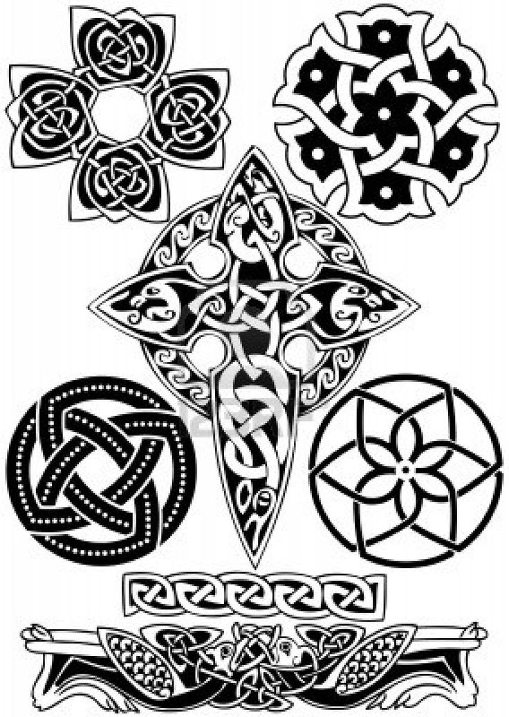 Celtic art-collection on a white background.