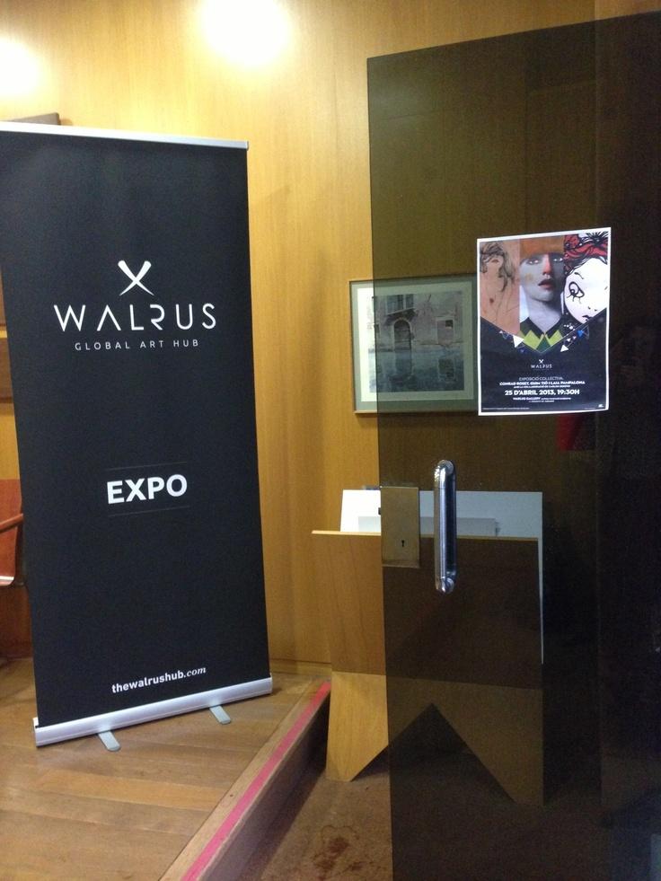Primera expo colectiva organizada por The Walrus Hub en la Walrus Gallery, 25/04/13