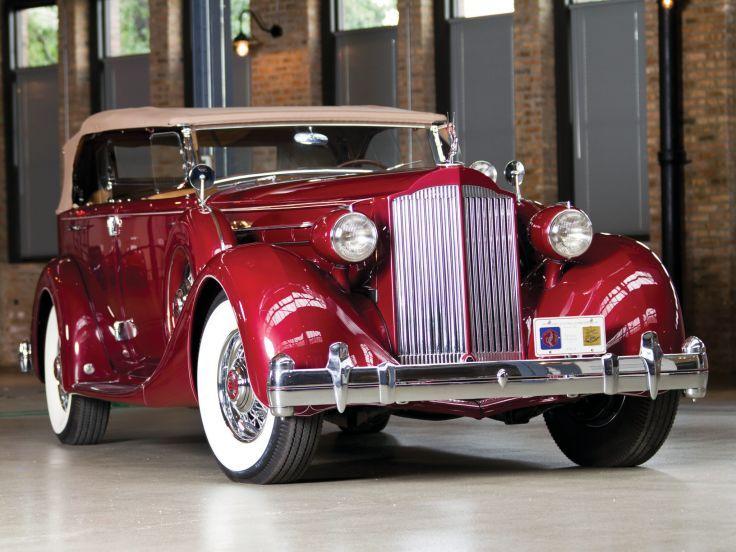 1935 Packard Doce Dual Cowl Phaeton Deporte Dietrich 1207-821 lujo retro papel tapiz de fondo g