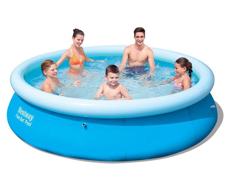 """בריכת שחייה עגולה מידות 305*76 ס""""מ דגם Bestway 57266"""