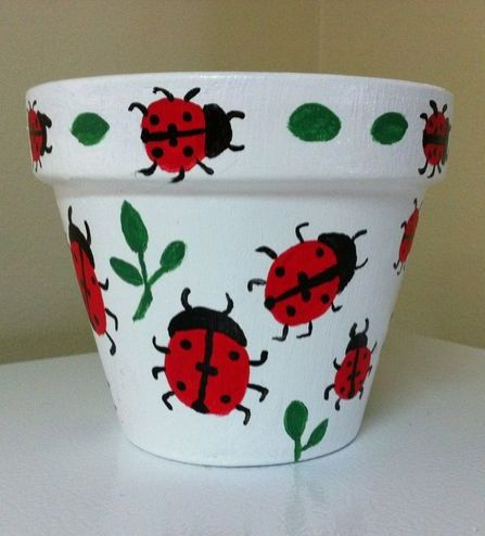 Ladybug Terra cotta Pot Craft