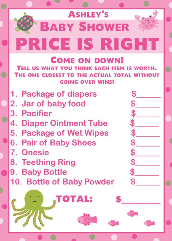 24 Baby Shower Price Is Right Game Cards UNDER THE By Partyplace, $14.00