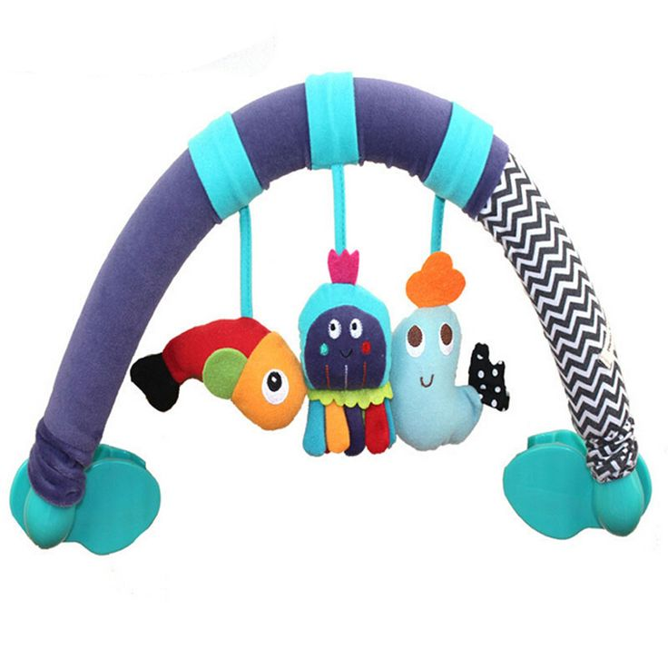 Fish/Octopus/Dolphin Mobile Baby Toys Super Plush Toy Stroller Rattle Crib Mobile Learning & Education Toy Gifts WJ143