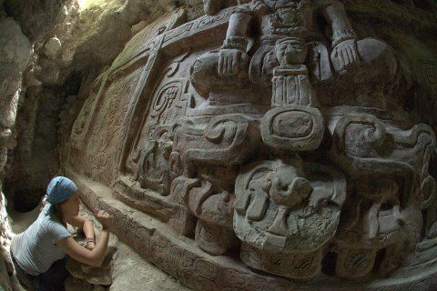 Archaeologist Found This Huge, Beautiful Mayan Frieze Completely Intact in Guatemala