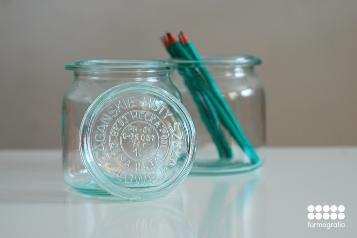vintege polish weck jars