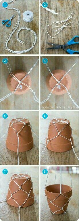 String Holder For Flower Pot To Hang