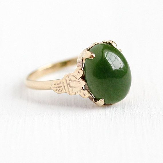 Round Green Jade 925 Sterling Silver Ring Size 7 3//4 8 3//4 8 1//4