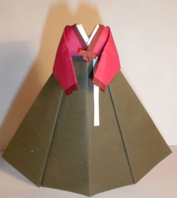 Origami Korean Traditional Dress | Origami and PaperCraft – PaperCraftCentral.net