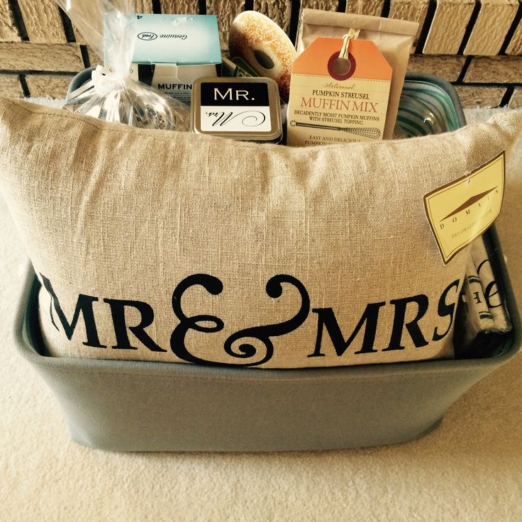 """Breakfast in bed shower gift basket.  Poem to include on tag.  """"The work week is over and it's time to rest.           Enjoying time together is always the best.           So turn off your alarm and sleep late instead       And when you awake enjoy breakfast in bed!"""""""