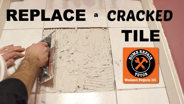 How to replace an ugly cracked tile: the tips pros don't want you to know