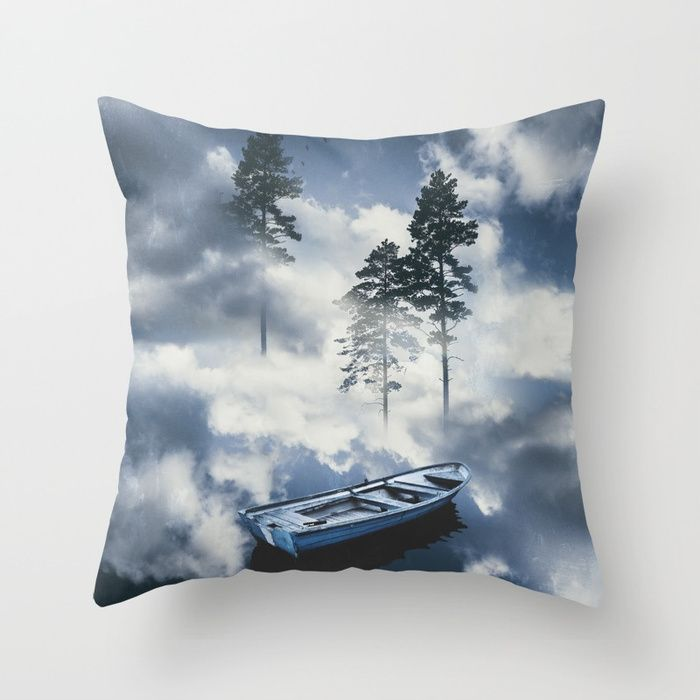 Forest sailing Throw Pillow by HappyMelvin. #art #nature #photography #surreal #homedecor #pillows