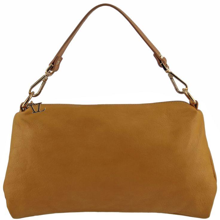 TL Bag TL141209 Leather shoulder bag with golden hardware