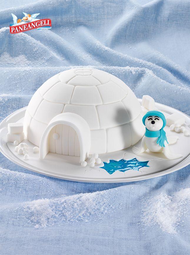 Torta #Igloo. Scopri la #videoricetta su www.paneangeli.it/far-dolci-e-bello/videotutorial