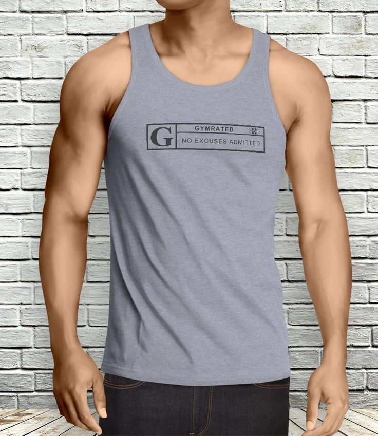 Official GYMRATED™ Brand Men's Tank Tops.