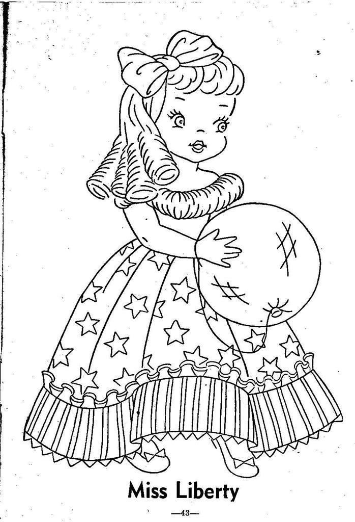 Hand Embroidery Pattern 12 Children of the Month for Quilt from 1960 Workbasket 7