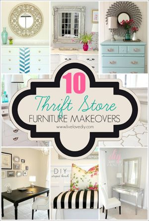 LiveLoveDIY: My Top 10 Thrift Store Shopping Tips: How To Decorate on a Budget