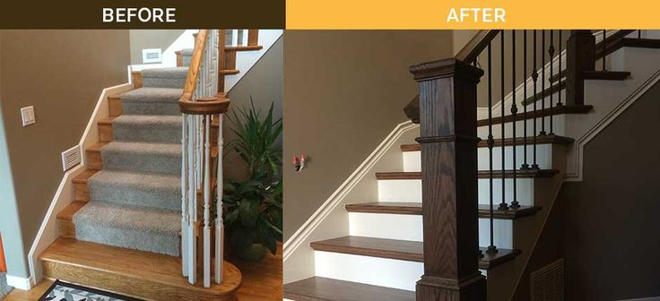 Best A Full Staircase Remodel Transitioned This Bethany Area 400 x 300