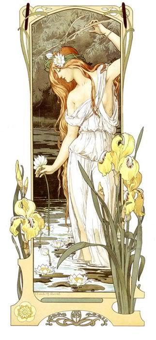 elisabeth sonrel 1874-1953 - fleurs des eaux