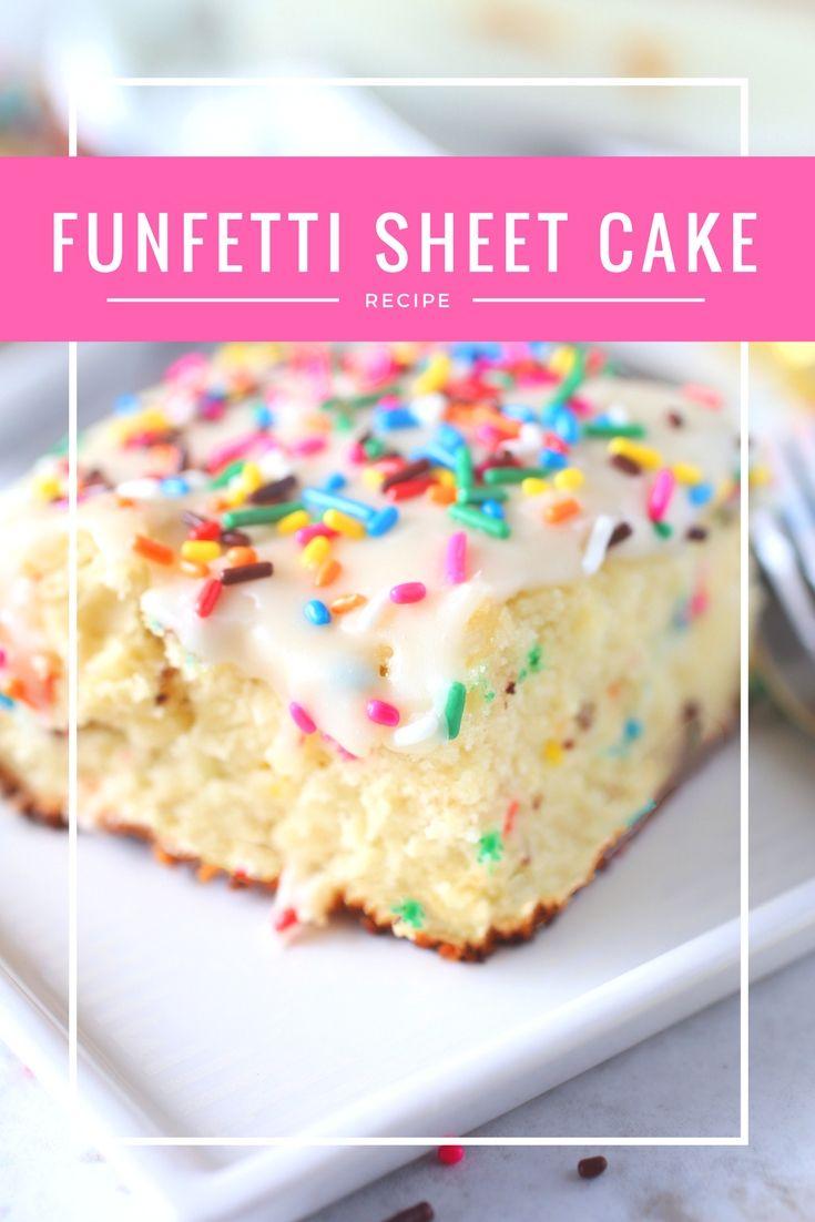 Selbst gemachter Funfetti-Blatt-Kuchen   – Brown Sugar Food Blog