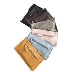 New colour scheme for the FIE-clutch:  black, dark brown, dark grey, dusty rose, ice blue and mustard  Cute and handy small clutch in strong PU leather, includes a pocket for coins and a cardholder and leaves room for your phone or keys as well.    Price: 299 DKK / 40 €