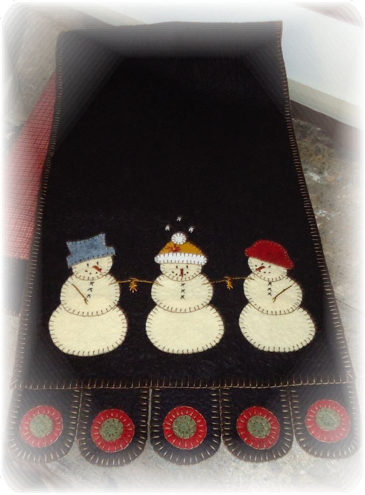 Three Snowmen Penny Rug E-Pattern