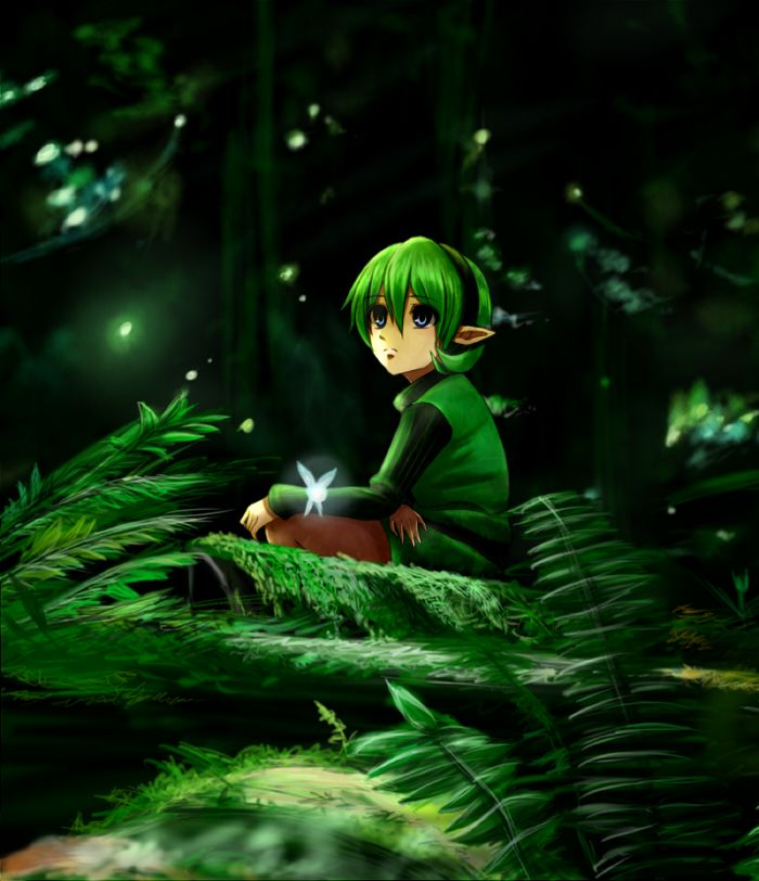 Saria, Link, Legend of Zelda, ocarina of time