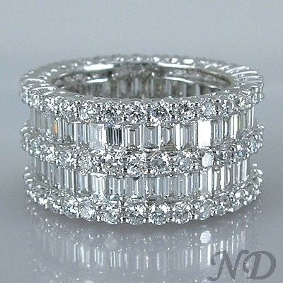 6.47ct. Fashion Baguette Diamond Eternity Wedding Band. This is absolutely stunning ...