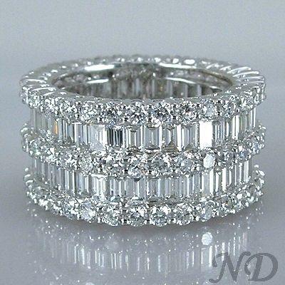 6.47ct. Fashion  Baguette Diamond  Eternity Wedding  Band