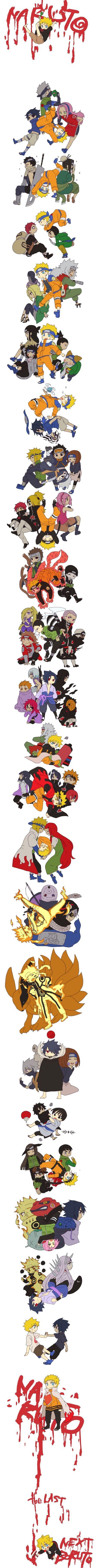 El enlace de esta serie manga muestra desde sus inicios Q para lograr algo Tienes Q luchar X ello. Naruto Uzumaki Hokage D konoha lucho sin nadie a su lado solo su sensei quien creía el luego al lado de sus amigos quienes se gano su confianza y respeto; tiempo después dándole paso al amor y eli y sufrió por ello asta llegar a tener a su descendencia Bolt y de a qui parte otra generation de ninjas gerreros.