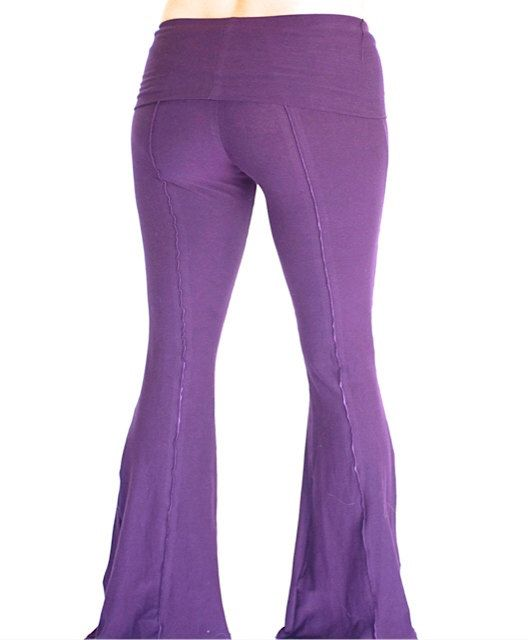 Womens Yoga Pants, fold-over waist, YOGINI FLARES, workout dance pants, maternity clothes by DervishClothing on Etsy https://www.etsy.com/listing/89706639/womens-yoga-pants-fold-over-waist-yogini