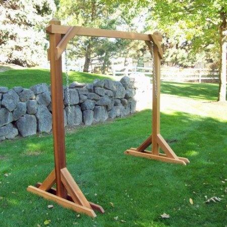 Amazon Com Basic Frame Cedar Porch Swing Stand Patio