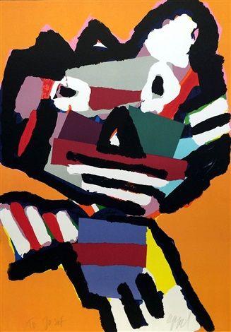 Orange Personage by Karel Appel