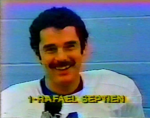 November 27, 1980--Kicker RAFAEL SEPTIEN (1) wishes the viewers a Happy Thanksgiving in Spanish.