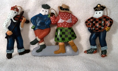 Mummers Christmas tree ornaments