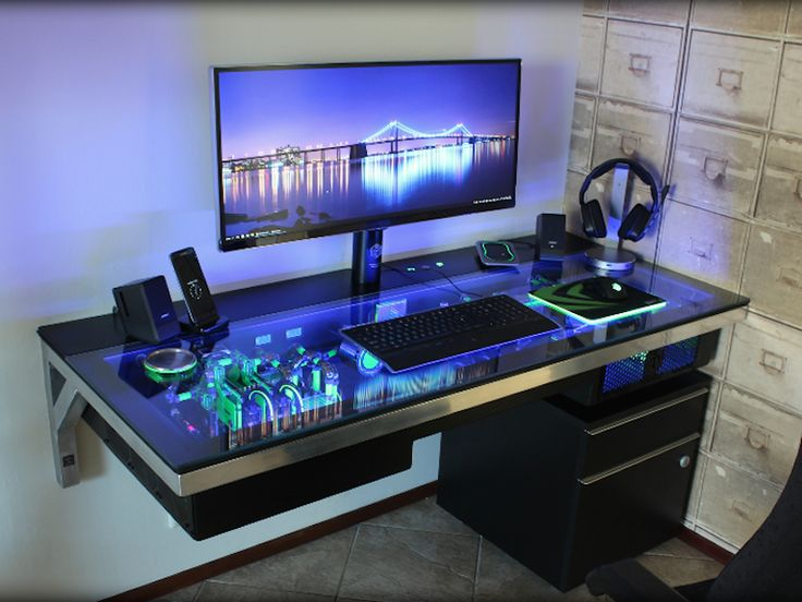 25 Best Ideas About Cool Computer Desks On Pinterest Pc Setup Gaming Desk And Computer Setup