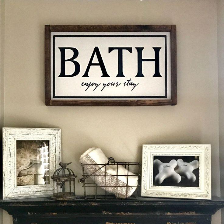 Bathroom Wood Sign Decor. Bath Enjoy Your Stay. Bathroom Decor. Bathroom  Wood Sign. Farmhouse Style. Farmhouse Decor. Farmhouse Signs