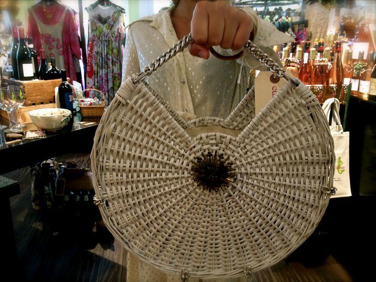 Epic rock-star basket-weave purse.