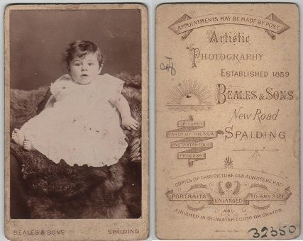 Sepia Saturday - CDV by Beales and Sons, New Road, Spalding, Lincolnshire