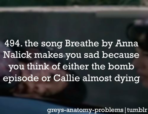 Grey's Anatomy Problems - or it reminds me Lexie is dead.