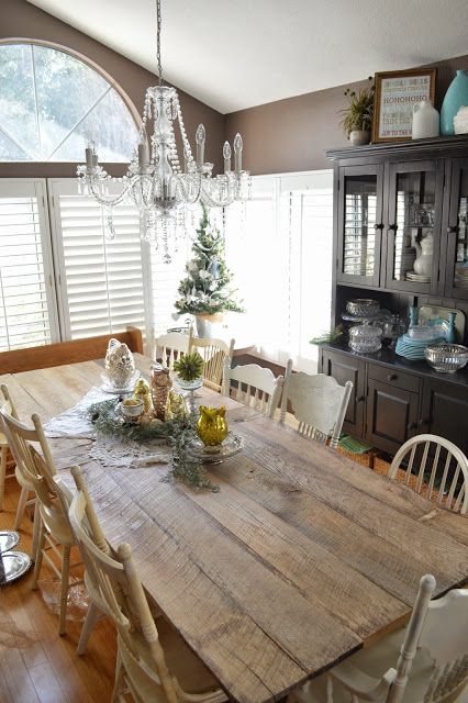 jedi craft girl rustic farm table reveal - Farm Table And Chairs