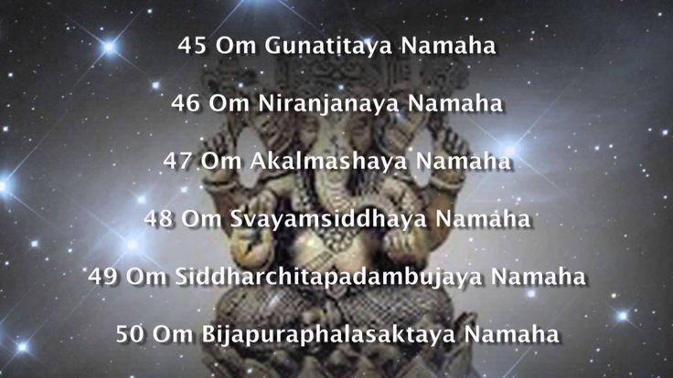 Ganesha Ashtothram - 108 Names of Lord Ganesha